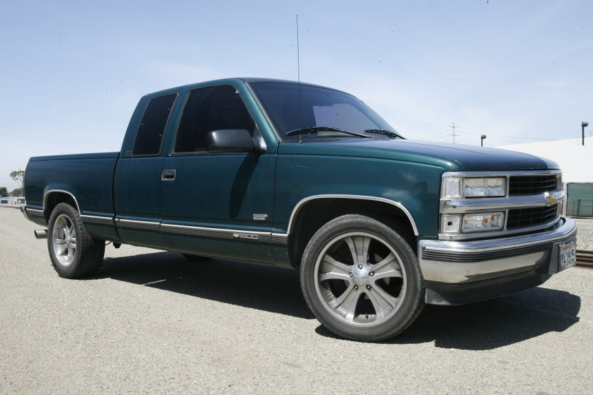 1997 chevy c1500 4 inch kit before trinity motorsports. Black Bedroom Furniture Sets. Home Design Ideas
