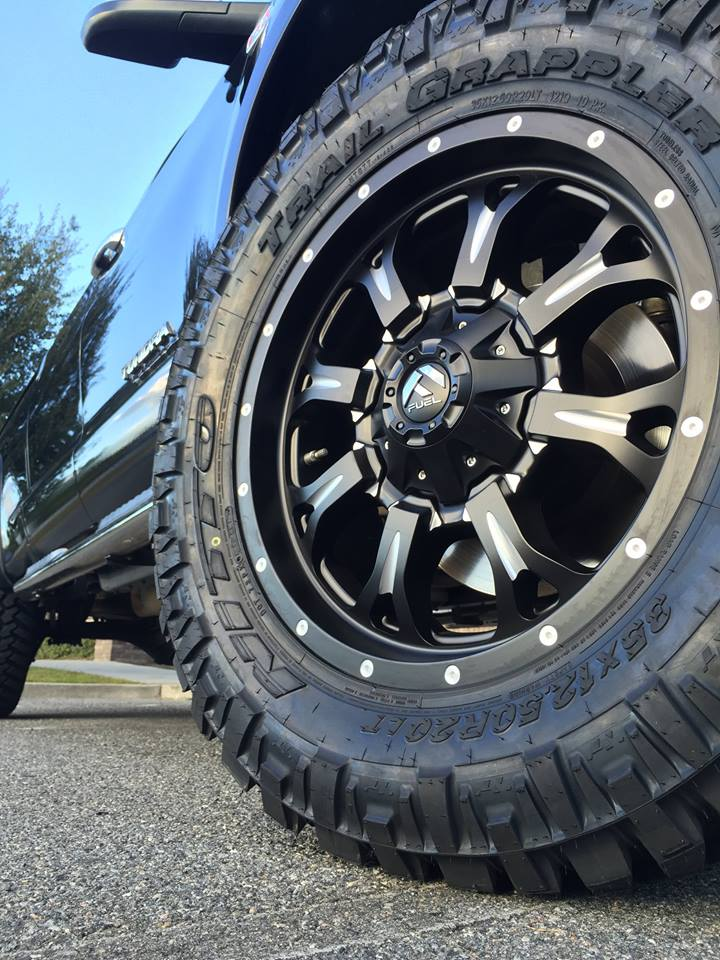 Lifted Tundra Fuel Wheel on Lifted Land Rover