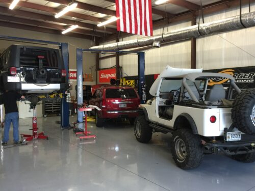 Shop pic with Jeeps OCT 15