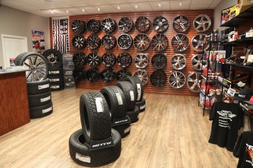Showroom wheel wall Feb 16
