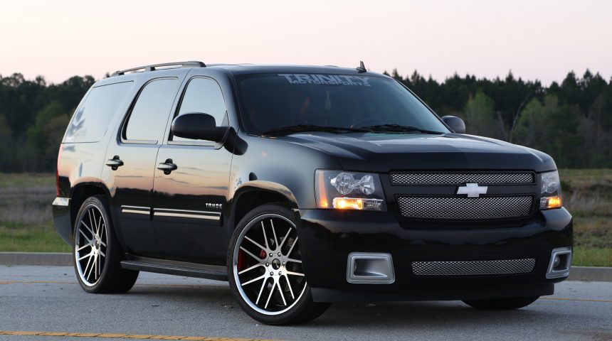 Lowered and Magnuson Supercharged 2010 Tahoe on 24s