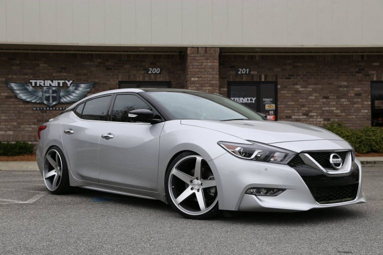 Lowered 2016 Nissan Maxima Concavo Wheels - Trinity ...
