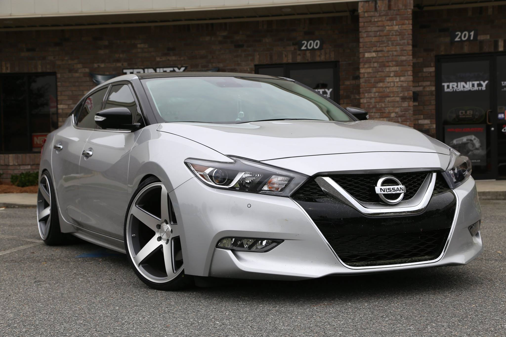 Lowered 2016 Nissan Maxima Concavo Wheels Trinity