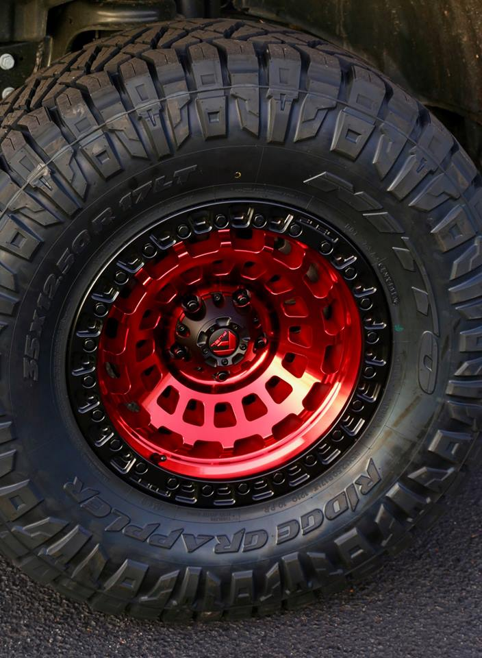 Red Wheel Weiser Online Bookstore: 2019_Jeep_JL_fuel_candy_red_nitto_rough_country_lift_wheel