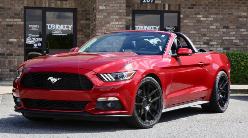 Mustang drop-top on Velgen Wheels