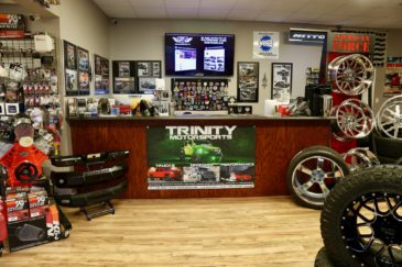 Trinity Motorsports Showroom Counter bigscreen pooler georgia