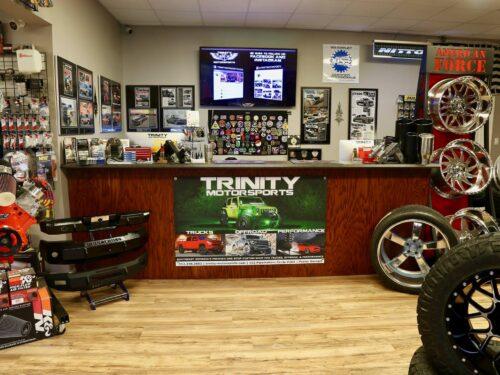 Trinity Motorsports Showroom Counter bigscreen pooler georgia
