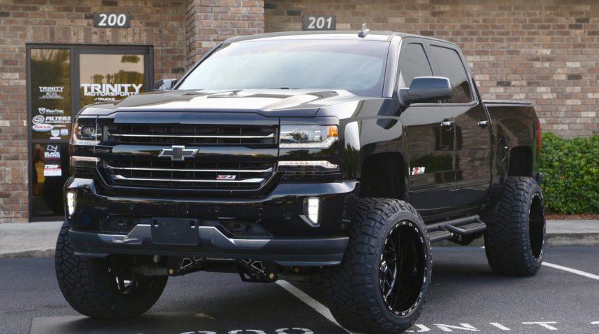 '17 Silverado with McGaughy's lift and 22″ TIS Wheels